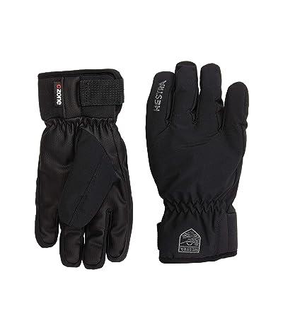 Hestra Ferox Primaloft Five Finger (Toddler) (Black) Ski Gloves