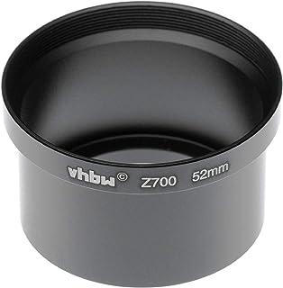 vhbw Adaptador de Filtro 52mm en Forma de Tubo para cámara Digital Reflex Objetivo Compatible con Kodak EasyShare Z700- Negro
