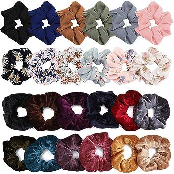 Womens Star Chiffon Hair Ring Scrunchie Elastic Hair Tie Rope Hair Accessories