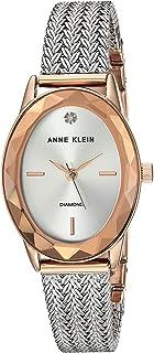 ساعة يد كوارتز بنمط عرض انالوج وسوار من الستانلس ستيل للنساء من ان كلاين، AK-3499SVRT