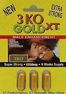 3 KO Gold XT 8250mg Male Sexual Performance Enhancer 5 Weeks Supply Total 6 Pills