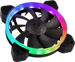 Cougar Vortex RGB FCB - Ventilador hidráulico (120 mm, PMW, HDB, iluminación omnidireccional, RGB direccional)