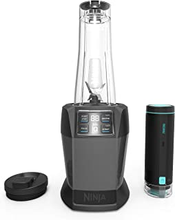 Nutri Ninja Blender with FreshVac Technology, 1100-Watt Auto-iQ Base, 2 Manual Speeds, and (2) Single-Serve FreshVac Cups with Lids (BL580), Dark Gray