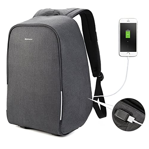 057b3bbd48 KOPACK Waterproof Anti Theft Laptop Backpack Usb Charging Port Business  Scan Smart With Rain Cover 15.6