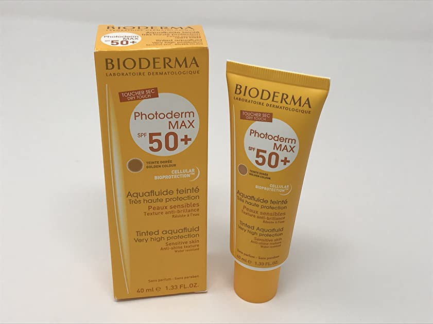 決定下線表示Bioderma Photoderm Max Tinted Aquafluide Spf50+ Golden Colour 40ml [並行輸入品]