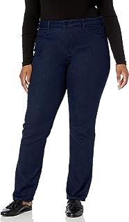 NYDJ Womens Women's Plus Size Marilyn Straight Leg Jeans Jeans