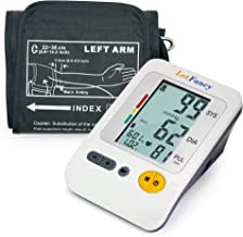 "LotFancy Upper Arm Blood Pressure Monitor, 120 Memory, 4-Users, Fully Automatic Blood Pressure Monitor with Medium Cuff (8.6""-14"