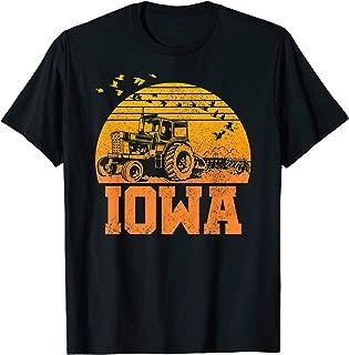 Iowa T-Shirt - Vintage Retro Tractor Farmer Shirt Gift