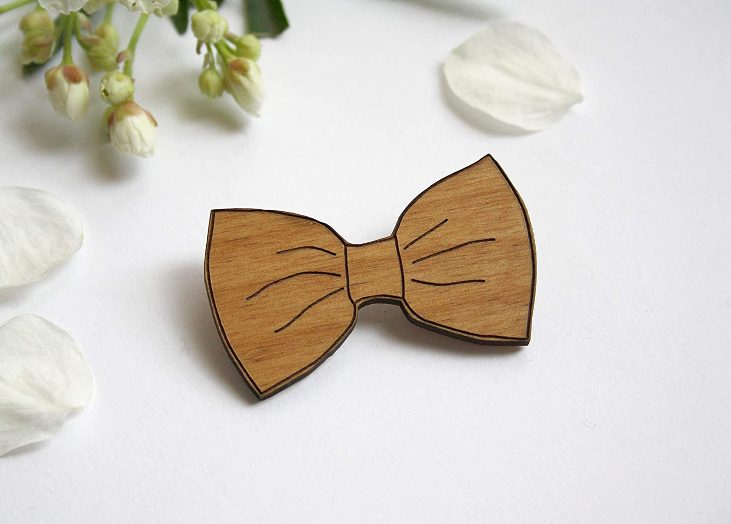Wooden Limited price sale bow Ranking TOP7 tie brooch wedding engraved accessory wood man or