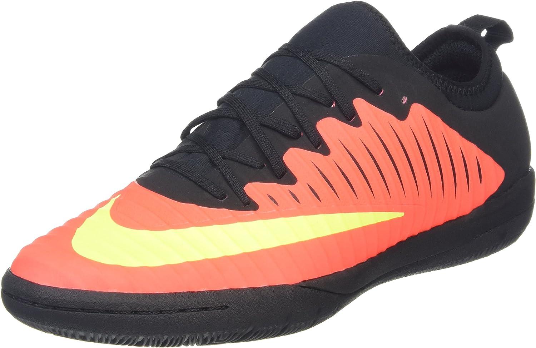 Nike Men's Mercurialx Finale II IC Total Crimson Vlt Blk Pink Blast Blk Indoor Soccer shoes 11 Men US