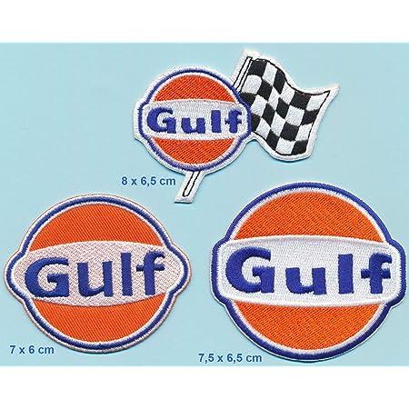Good Year Gulf STP Lot de 3 /écussons thermocollants pour Moto V8 Racing Team USA