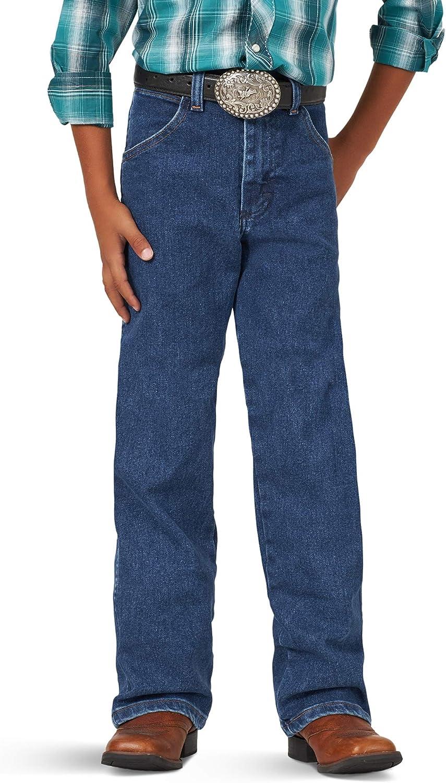 Wrangler Boys' Big Cowboy Oklahoma City Mall Cut Original Jean Flex Popular product Active Fit