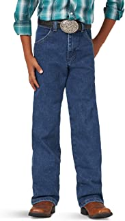 Wrangler Boys' Cowboy Cut Active Flex Original Fit Jean, Stonewash, 1T