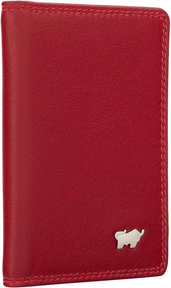 Braun bÜffel, porta carte di credito, in pelle , rosso