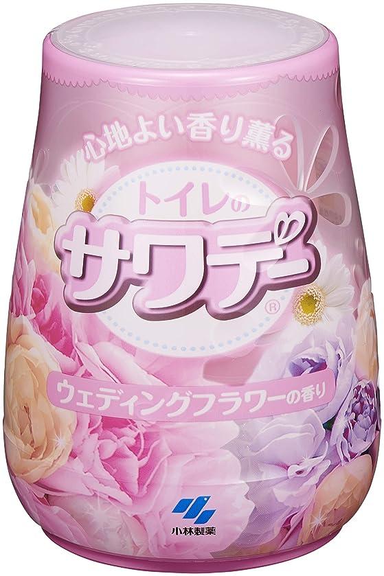 放送コンパイル不調和サワデー 消臭芳香剤 トイレ用 本体 ウェディングフラワーの香り 140g