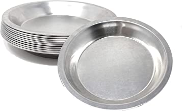 Pie Plate Aluminum Metal 8 Inch Pan - Set of 10