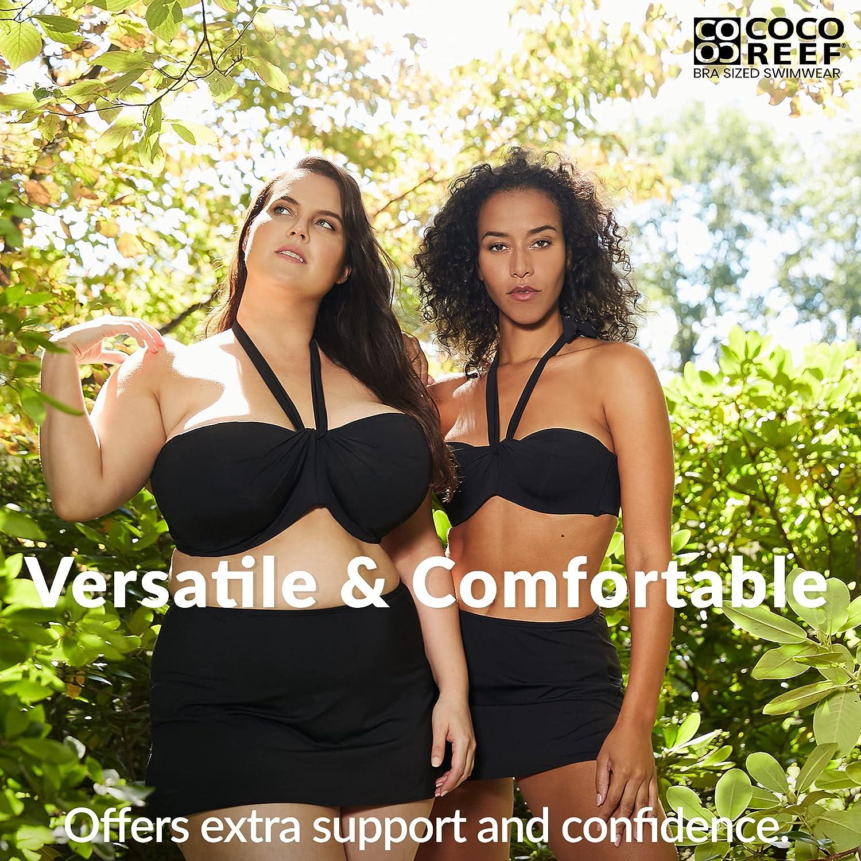 Coco Reef Women's Standard Five Way Bra Sized Underwire Bikini Top with Molded Cups