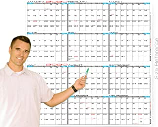 "JJH Planners - Laminated - 48"" x 48"" Jumbo 2020 Wall Calendar - 2 Part 12 Month Yearly Annual Planner (20-48x48)"