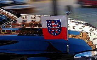 DIPLOMAT-FLAGS Civil de la Isla de Man Bandera 17x34cm Banderas de Coche Bandera Paisaje 0.06m/²
