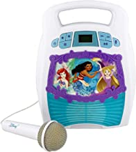 Disney Princess Bluetooth Portable MP3 Karaoke Machine Player Light Show Store Hours of Music built in Memory Sing Along using Real Working Microphone Usb Port Expand Content, Disney Multi Princess