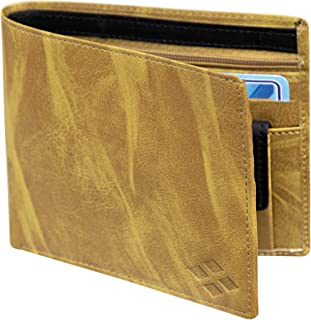 LUXIQE Men Yellow Artificial Leather Wallet (WL1001YL)