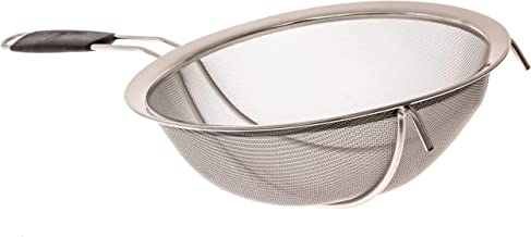 LiveFresh Large Stainless Steel Fine Mesh Strainer with Reinforced Frame and Sturdy Rubber Handle Grip - Designed for Chefs and Commercial Kitchens & Perfect for Your Home - 9 Inch / 23 cm Diameter