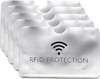 【5枚セット】 ICカード 干渉防止 磁気防止 スキミング 防止 磁気シールド カードプロテクター カード ケース クレジットカード ICカード PR-RFID5