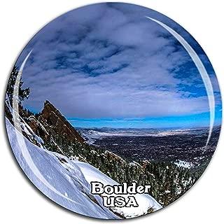 Colorado Chautauqua Park Boulder America USA Fridge Magnet 3D Crystal Glass Tourist City Travel Souvenir Collection Gift Strong Refrigerator Sticker