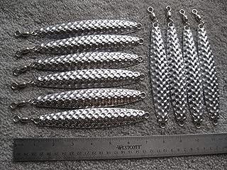 BLAZESHOP 10 Fishing Bulk jigs Lures 10oz Hammered Diamonds Vertical Jigging no Hooks