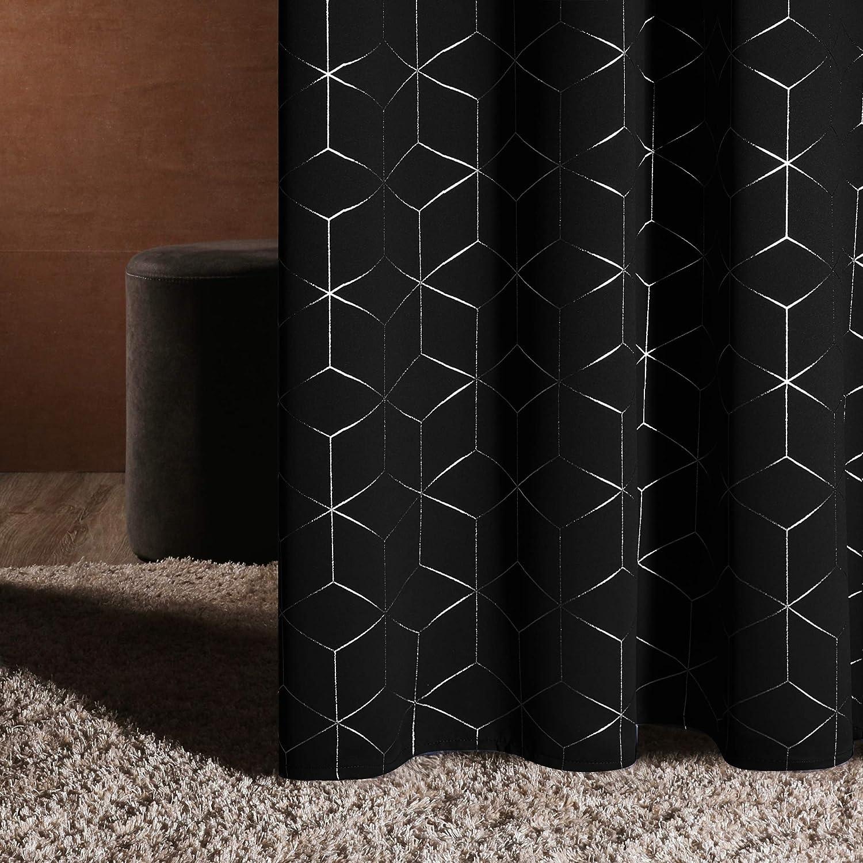 Deconovo Silver Ranking TOP16 Diamond Foil Print Thermal Curtains Oklahoma City Mall B Insulated