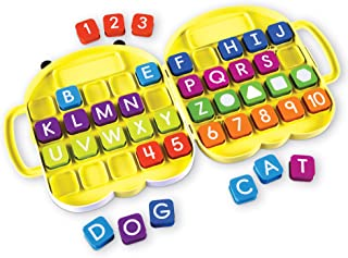 Learning Resources AlphaBee Alphabet, ABCs, Numbers, Shape & Word Recognition Activity Set, Multicolor