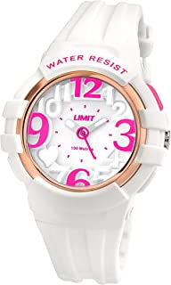24aa06e6e Limit Active Girl's Quartz Watch with White Dial Analogue Display and White  Plastic Strap 5576.24
