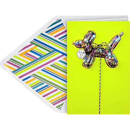 Hallmark Birthday Card Confetti Balloons