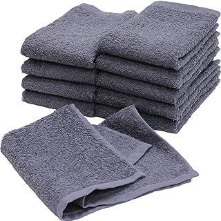 業務用 ハンドタオル おしぼり 120匁 10枚セット ブルーグレー 日本製 泉州タオル 瞬間吸水 速乾