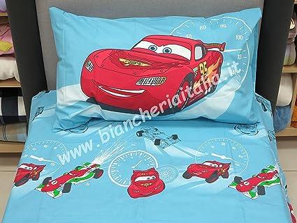 Completo Lenzuola Flanella Cars Saetta Corsa Blu Avio 1 Piazza E Mezzo Disney Caleffi Amazon It Casa E Cucina