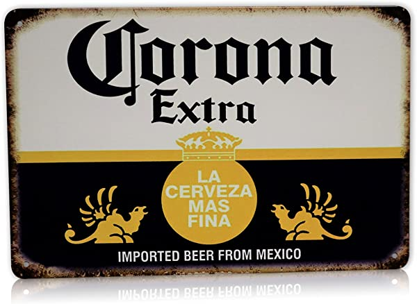 Corona Beer Man Cave Decor Extra Metal Sign La Cerveza Alcohol Home Party Bar Retro Vintage Signs Size 8x12 Inches