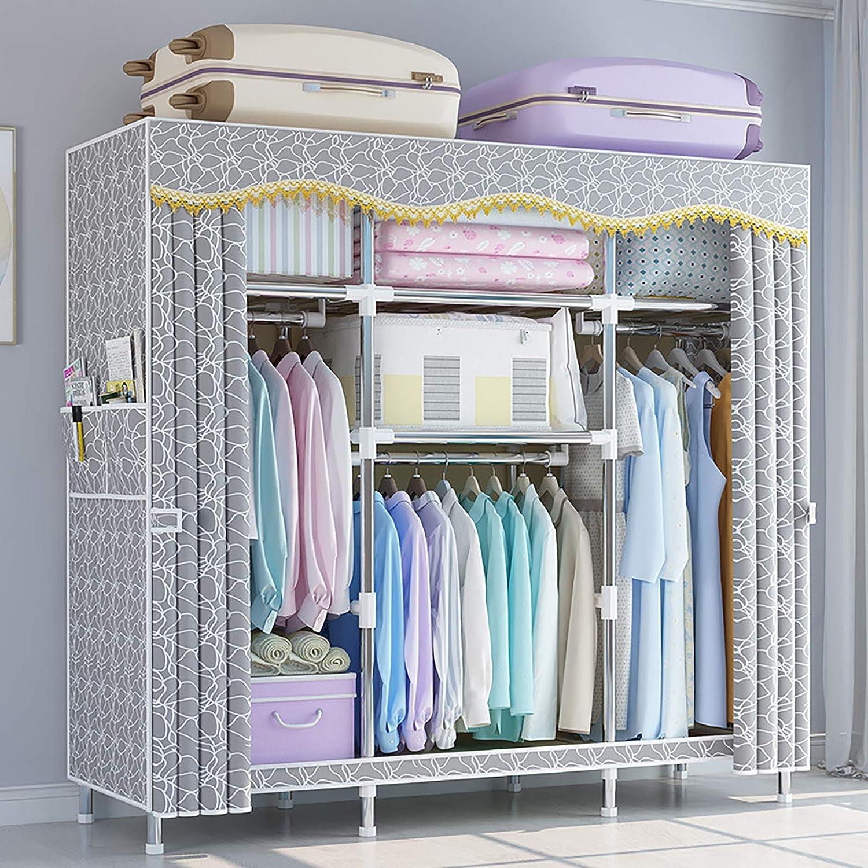 Minmin Ranking TOP5 Portable Memphis Mall Wardrobe Double with Storage Organizer