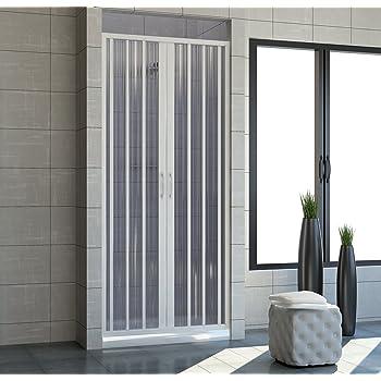 Cabina de ducha 150 con apertura plegable central. De PVC. Altura de las puertas de 185 cm: Amazon.es: Bricolaje y herramientas