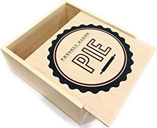 Pie Box Pie Carrier - Bakery Box - Pastry Box - Freshly Baked - Wooden Pie Box