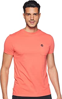 Timberland Men's Dunstan River Pocket T-Shirt, Color: Red, Size: S
