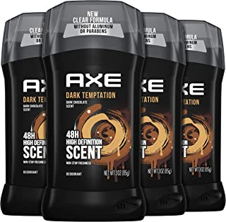 AXE Dual Action Deodorant Stick for Long Lasting Odor Protection Dark Temptation Hot chocolate Amber & Red Peppercorn Mens...