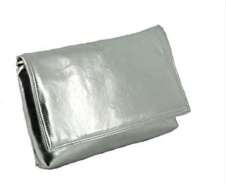 Womens Delightful Clutch/Shoulder/Crossbody/Wristlet Bag Size Small in black faux patent leather