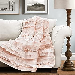 Lush Decor Lush Décor Belle Throw, 60 inch x 50 inch, Pink Blush, 60