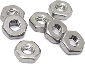 8-32 Hex Nut, Coarse Thread Hexagon Nut,18-8 Stainless Steel Hex Nut, Silver Tone,(100 Pcs)