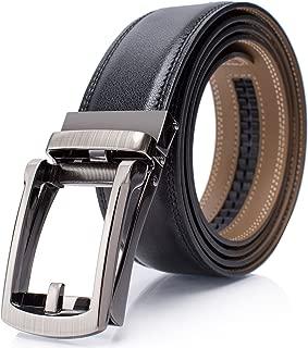 Holeless Leather Ratchet Belts for Men 45