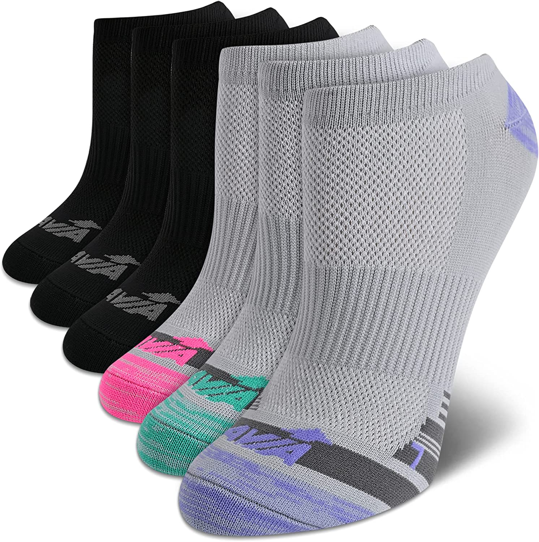 Avia Women's No Show Low Cut Running Socks (6 Pack)