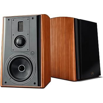 Swans Speakers M3A Active 3-Way Bookshelf Speakers - 6.5 Inch Kevlar Woofer, Soft Dome Mid-Range Driver, Ribbon Tweeter, Wi-Fi/LAN/Bluetooth/Balanced XLR/Optical and Line Input