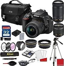 Nikon D5600 DSLR Camera with AF-P 18-55mm and 70-300mm Zoom Lenses + Nikon DSLR Camera Case + 32GB Memory Bundle (25pcs)