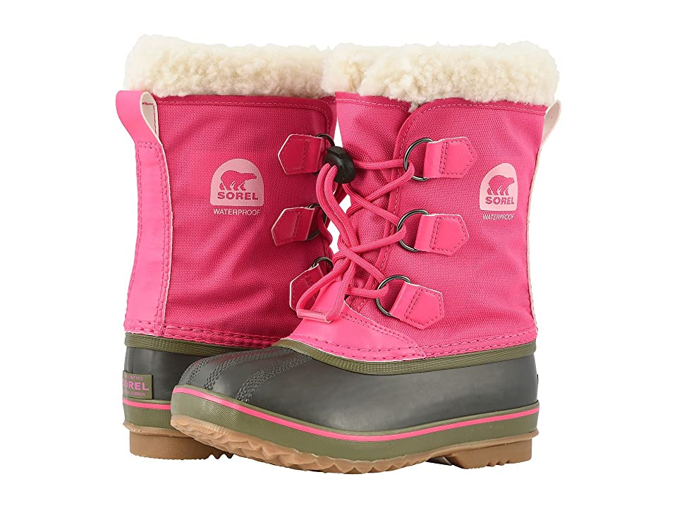SOREL Kids Yoot Pac Nylon (Little Kid/Big Kid) (Ultra Pink/Alpine Tundra) Girls Shoes