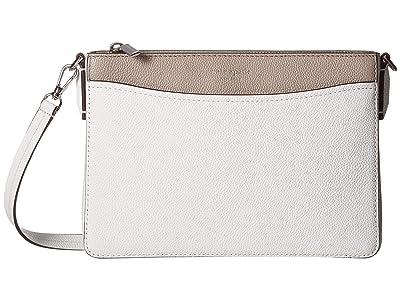 Kate Spade New York Margaux Medium Convertible Crossbody (Optic White Multi) Handbags